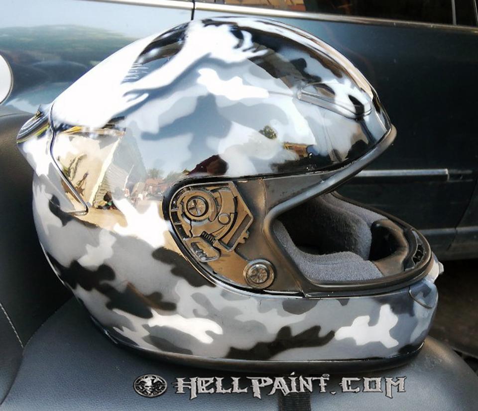 Аерография череп рисуване camouflage